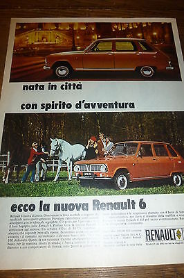 ADVERTISING PUBBLICITA'  RENAULT 6 nata in citta'   -  1969