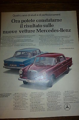 Advertising Pubblicita'  Mercedes-Benz 200/200 D   -  1965
