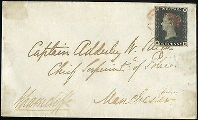Gb#1 Vf On Cover Addressed To Chief Of Police Manchester Bn8840
