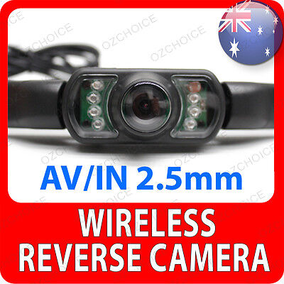 "Universal Wireless Reverse Camera for 4.3"" 5"" 7"" GPS with 2.5mm AV Input Jack"