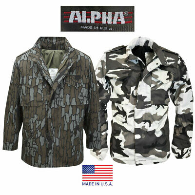 82f67e8d0aff5 New Alpha Industries – Usa Military Army M-65 M65 Jacket Camouflage
