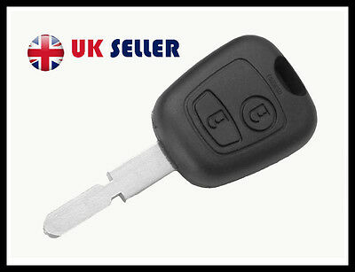 fits Peugeot 2 BUTTON 406 Remote Key FOB CASE BLADE NEW