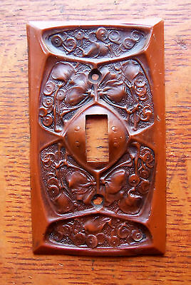 "New Craftsman ""Gingko"" Arts & Crafts Toggle Switch Plate"