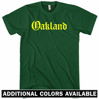 OAKLAND T-shirt - Gothic - 510 East Bay Area California Raiders A's - NEW XS-4XL