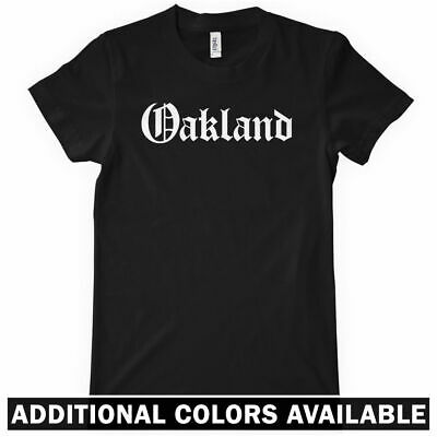 OAKLAND Women's T-shirt - Gothic East Bay Area California Raiders A's 510  S-2XL