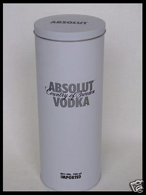 WHITE METALL DOSE TIN von ABSOLUT VODKA 0,7L