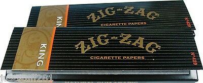 Zig Zag King Size Rolling Papers(2 Packs With 32 Papers In Each Pack)*Free Ship*