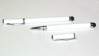 2 in 1 Ballpoint Touch Screen Pen Stylus For iPhone 5 5G 5C 5S SE 6 7 Plus White