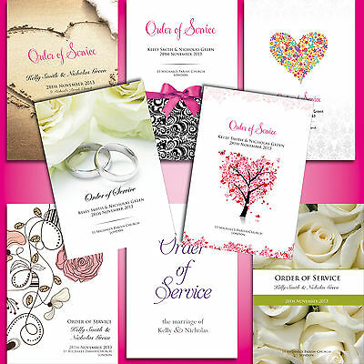 Wedding Order of Service *Many designs*FREE Draft*