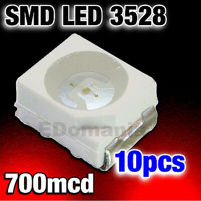 135/10# LED Rouge CMS 3528  PLCC-2 SMD red 10pcs   ----->700mcd  - TL
