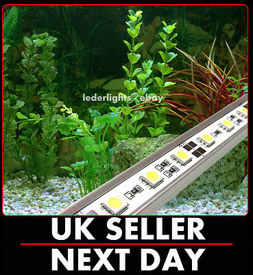 Warm White Led Strip / Rigid Bar Aquarium Lights Set Fish Tank Fully Submersible