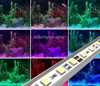 12v LED STRIP / RIGID BAR TUBE COLOUR CHANGING AQUARIUM / FISH TANK SET LIGHTS
