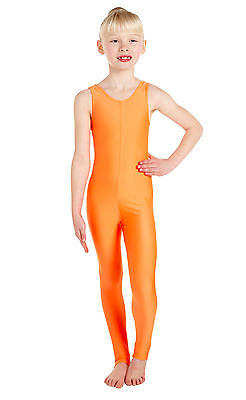 Lycra Catsuit Sleeveless Plain Front - Ballet Colours  (#GEMMA)