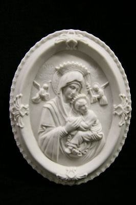 Virgin Mary Our Lady of Perpetual Statue Plate Plaque Vittoria Made in Italy