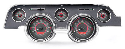 1967- 68 Ford Mustang VHX Instruments (Carbon Fiber Red)