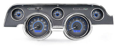 1967- 68 Ford Mustang VHX Instruments (Carbon Fiber Blue)