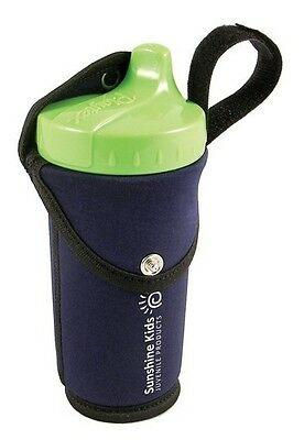 SNUG IT Insulated Bottle Drink Holder Clip on Baby BLUE