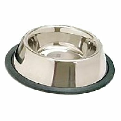 STAINLESS STEEL Non Skid Pet Dog Puppy Cat No Tip Bowl Dish