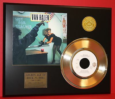Van Halen - Hot For Teacher - 24k Gold Record Display - Free USA Shipping