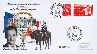 "EP07-4a FDC ""France 2007 Presidential Election - Inauguration Day SARKOZY"" Paris"