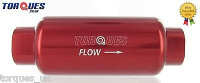 AN -10 (AN10 JIC -10 ORB-10) Red Anodised Billet Fuel Filter 30 Micron
