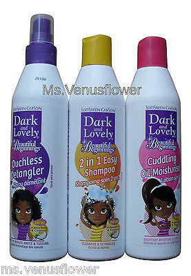 Dark and Lovely Beautiful Beginnings Kids Ouchless Detangler,Moisturizer.