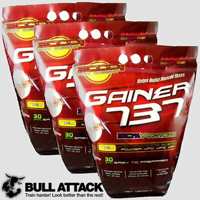 3 x 3000g / 9kg GAINER 737 + WHEY PROTEIN KONZENTRAT ISOLAT Bulid Muscle Fast