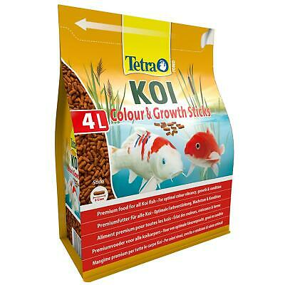 1200g 4 litre TETRA POND GROWTH & COLOUR STICKS FLOATING KOI FISH FOOD DIET