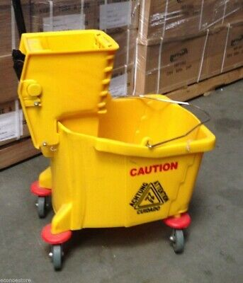 Commercial Restaurant Hall Floor Cleaning Mop Trolley Water Bucket W/ Wringer