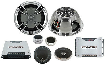 New BrandX XXLHDS3 6.5'' 3-Way Component Speaker System