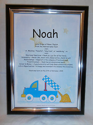BABY'S FIRST NAME MEANING CHRISTENING/NAMING DAY GIFT Set on heavy 250gsm card.