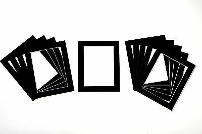 Black Photo/Picture Mounts - Available in Packs of 5, 10 and 20