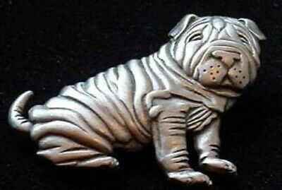 Sitting Shar Pei Brooch Jonette Original!