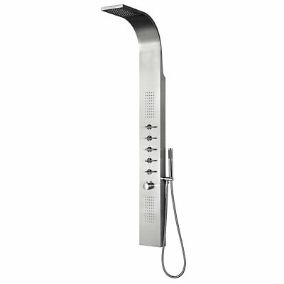 Waterfall Shower Panel Thermostatic Tower Bathroom Column with Massage Body Jets