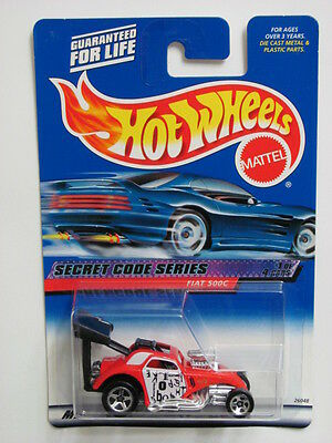 HOT WHEELS 2000 SECRET CODE SERIES FIAT 500C  #045