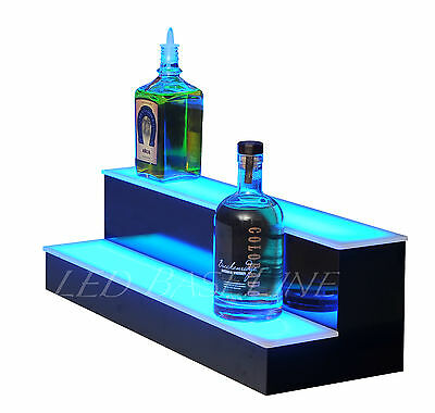"26"" LED BAR SHELF, Two Step, Liquor Bottle Shelves, Bottle Display Shelving rack"