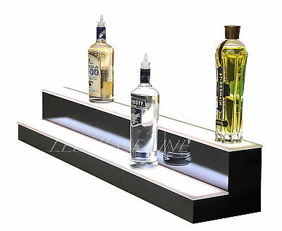 "82"" LED BAR SHELVES, Two Steps, Lighted Liquor Bottle Shelf,  Display Shelving"