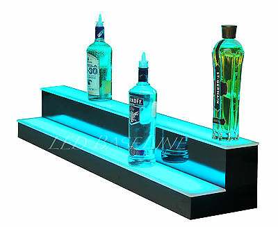 "90"" LED BAR SHELVES, Two Steps, Lighted Liquor Bottle Shelf,  Display Shelving"