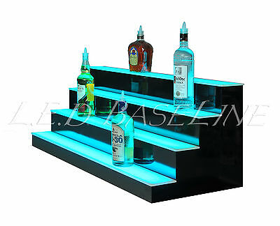 "50"" LED BAR SHELVES, Four Steps, Lighted Bar Shelf, Liquor Bottle Display Rack"
