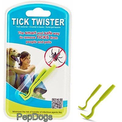 Tick Twister Remover People Pet Dog Cat Safest & Easiest Way To Remove Ticks