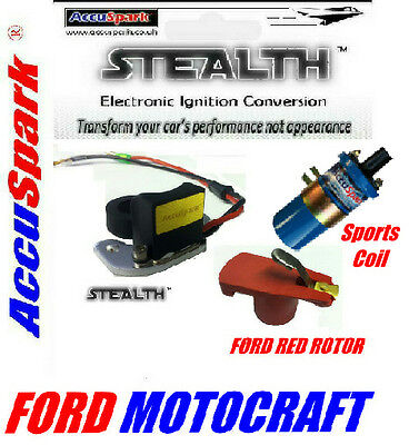 Ford Essex V6 Motorcraft Stealth Electronic ignition Blue coil+free red rotor