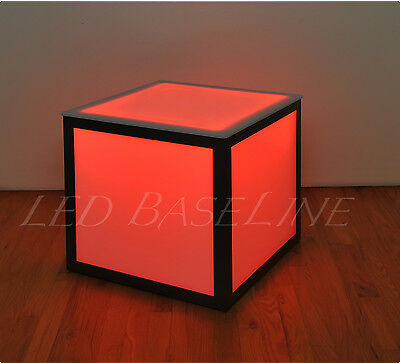 "16"" Led Cube End Table Color Changing Modern"