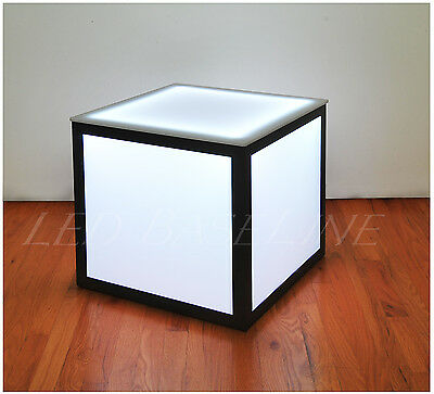 "21"" Led Cube End Table Color Changing Modern"