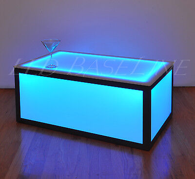 """16"""" Led Cube Coffee Tabled Bar Modern Color Changing"""