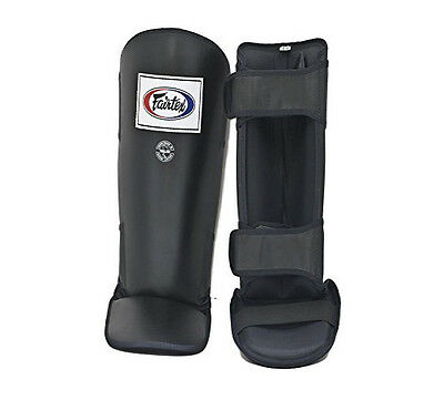 Fairtex Muay Thai Shin Guards Protector InStep Black New UFC MMA SP1 Shinguards