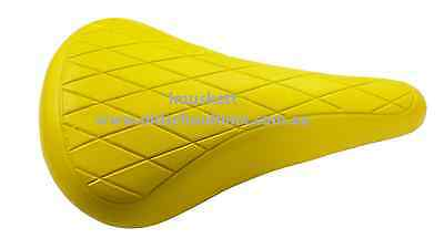 Old School Bmx Quilted Seat Saddle Yellow