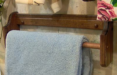 """Red Mahagony  18"""" Towel bar  pine solid wood wall mount made in the USA"""