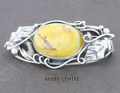 Baltic Amber Brooch 925 Silver Handmade Butterfly Shaped Fine Pins & Brooches Jewelry & Watches Bd0111 Rrp£55!!!