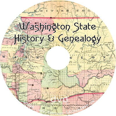 Washington History & Genealogy {32 Family Tree Research Books} on DVD