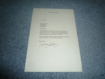 SIDNEY SHELDON (+ 2007) signed Autogramm In Person signierter Brief